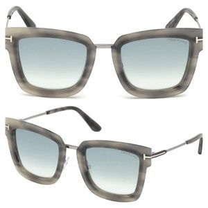 New Tom Ford Lara-02 Grey Square Sunglasses